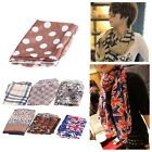Womens Chiffon Scarf Leopard Polka Dot Flag Tiger Print Long Shawl Wrap Pashmina