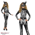 Halloween Fancy Dress # Ladies Fever Soleil Skeleton Costume Size 8-18