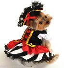 Pet Dog Cat Pirate Girl Halloween Xmas Fancy Dress Costume Outfit Clothes XS-XL