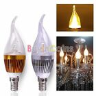 Super Bright  1/10X AC85-265V E14 3W LED Candle Chandelier Warm White Light Bulb