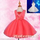 Diamonds Formal Tulle Dress Wedding Flower Girl Party Kid Size 2-11 Years FG258