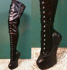 Thigh 65cm Laceup Extreme Fetish Heelless Horse Pony Stallion Hoof Sole Platform
