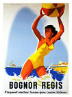 Bognor Regis Seaside Travel Poster Print - Framed And Memo Board Available
