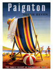 Paignton Devon Rail Travel Poster Print - Framed And Memo Board Available