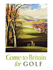 Travel To Britain For Golf Print - Framed And Memo Board Available