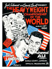 Muhammad Ali vs London 1966 Boxing Print - Framed And Memo Board Available