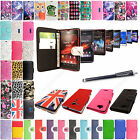 For Sony Xperia Phones PU Leather Book Side Opening Flip Case Cover+Guard+Stylus