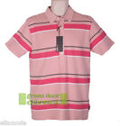 Peter Werth Mens Pink White Grey Striped Polo T Shirt Top BNWT Free UK Ship BNWT