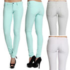 MOGAN 1XS-L Solid Light Color Washed Denim Skinny Body Fitting Sexy Jeans Pants