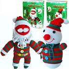 MAKE YOUR OWN FATHER CHRISTMAS SNOWMAN SOCK PUPPET SOFT TOY SEWING CRAFT KIT pw