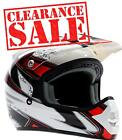 Adult Motocross Helmet Red Black White dirt bike MX Off Road ATV