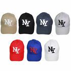 H42 MENS BOYS ONE SIZE VELCRO BACK ADJUSTABLE BASEBALL CAP HAT NY NEW YORK LOGO