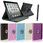 For the iPad mini 1 2 3 & ipad 3 4 2 360 Rotate Degree Leather Case Smart Cover