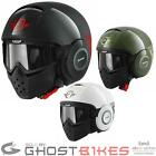 SHARK RAW TRINITY URBAN CRUISER OPEN FACE MOTORCYCLE SCOOTER GOGGLES BIKE HELMET