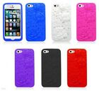 For iPhone 5C Case Rose 3D Silicone Cover Soft Gel Accessory