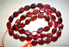 "GARNET 5.5-6mmX4-4.5mm / 7-8mm x 5-6mm Faceted Oval Gemstone Beads 13.5"" Str SAS"