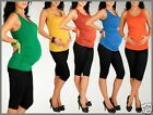 Maternity Pregnancy Stretchy Jersey Vest Top T-Shirt One Size 8/10  24h disp 227