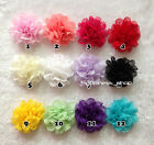 NEW Baby Girls DIY 3inch Flowers Eyelet chiffon hole lace Hair flower flat back