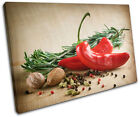 Spices Chili pepper Food Kitchen SINGLE CANVAS WALL ART Picture Print VA