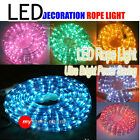 10m/18m/28m/38m LED Christmas Rope Light Party Multi Warm White Yellow Blue Red