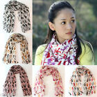 Lovely Cartoon Bear Pattern Chiffon Long Soft Scarf Wraps Shawl Scarves 5Colors