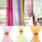 "1 Pcs 50""x84"" Sheer Voile Rainbow Window Drape Panel Curtains New"