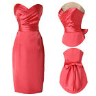 Retro Style Pencil Fitted Strapless Cocktail Evening Prom Party Short Lady Dress