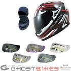 MT BLADE SV REBORN RED BIKE SCOOTER FULL FACE CRASH MOTORCYCLE HELMET & VISOR