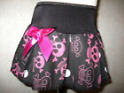 NEW Baby Girls Black White Pink Funky skulls spots Skirt Goth Rock punk Gift