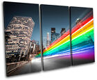 Los Angeles abstract Abstract TREBLE CANVAS WALL ART Picture Print VA