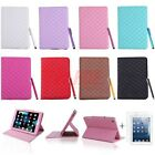Magnetic Quilt Stitch Folding Folio Case Cover Stand for iPad Mini 1 2 3 Retina