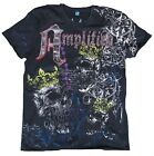 Amplified SAINT&SINNER ROYAL SKULL STRASS Rock Star Desinger T-Shirt 46/48/50/54