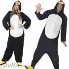 Men's Ladies Penguin Onesie Jumpsuit Animal Christmas Fancy Dress Costume Outfit