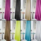 Plain Shower Curtain for Bathroom Bath with Hooks Rings 8 Colours