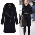Winter Warm Hooded Fur Collar Long Parka Thick Womens Trench Coat Down Jacket J