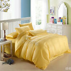 Solid Yellow King/Queen Size Bed Quilt/Doona/Duvet Cover Set Cotton
