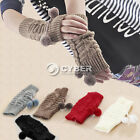 Fashion Women Lady Girl Hand Wrist Warmer Winter Fingerless Gloves Mitten DZ88