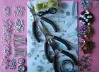 Large Jewellery Making Starter Kit Silver Tone Findings Tools Beads Wires Pins