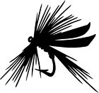 """Fly Fishing Lure - 4"""" x 3.75"""" - Choose Color - Decal Vinyl Sticker #1332"""