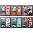 Wo Slim Front Back Clear Cartoon Screen Protector Film Cover For Iphone 5 5S (F)