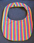 RAINBOW STRIPE Print reversible Flannel / Terrycloth Big Dog DOGGY DROOL BIB