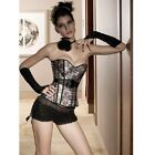 Sexy Seduction Charming V-shaped Steel Ring Lace up Corset Bustier Lingerie