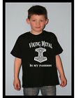 W023 Kinder Shirt Odin Thor Asgard Walhalla Thorhamme Viking Metal is my Passion