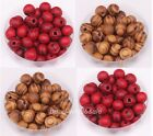 200pcs Brown/Red color Ball Wood Spacer Beads For Making Jewelry 8mm