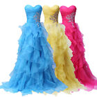 New Long Organza Bridesmaid Formal Gown Ball Party Cocktail Evening Prom Dress