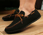 British Fashion Men Suede Slip On Loafer Casual Winter Warm Plush Driving Shoes