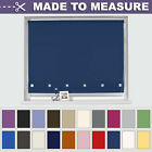 MADE TO MEASURE SUPERIOR LONG DROP SQUARE EYELET ROLLER BLINDS - MANY COLOURS