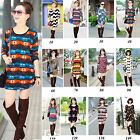 2014 Korean Fashion Women Lady Long Sleeve Sexy Crew Neck Dress Tee Tops T-Shirt