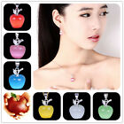 Pick Colors Lucky A-pple Crystal 925 Sterling Silver Pendant Fit Lady Necklace X