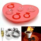 1Pc Ring Freeze Drink Ice Cube Mould Jelly Chocolate Ring Maker Tray For Party
